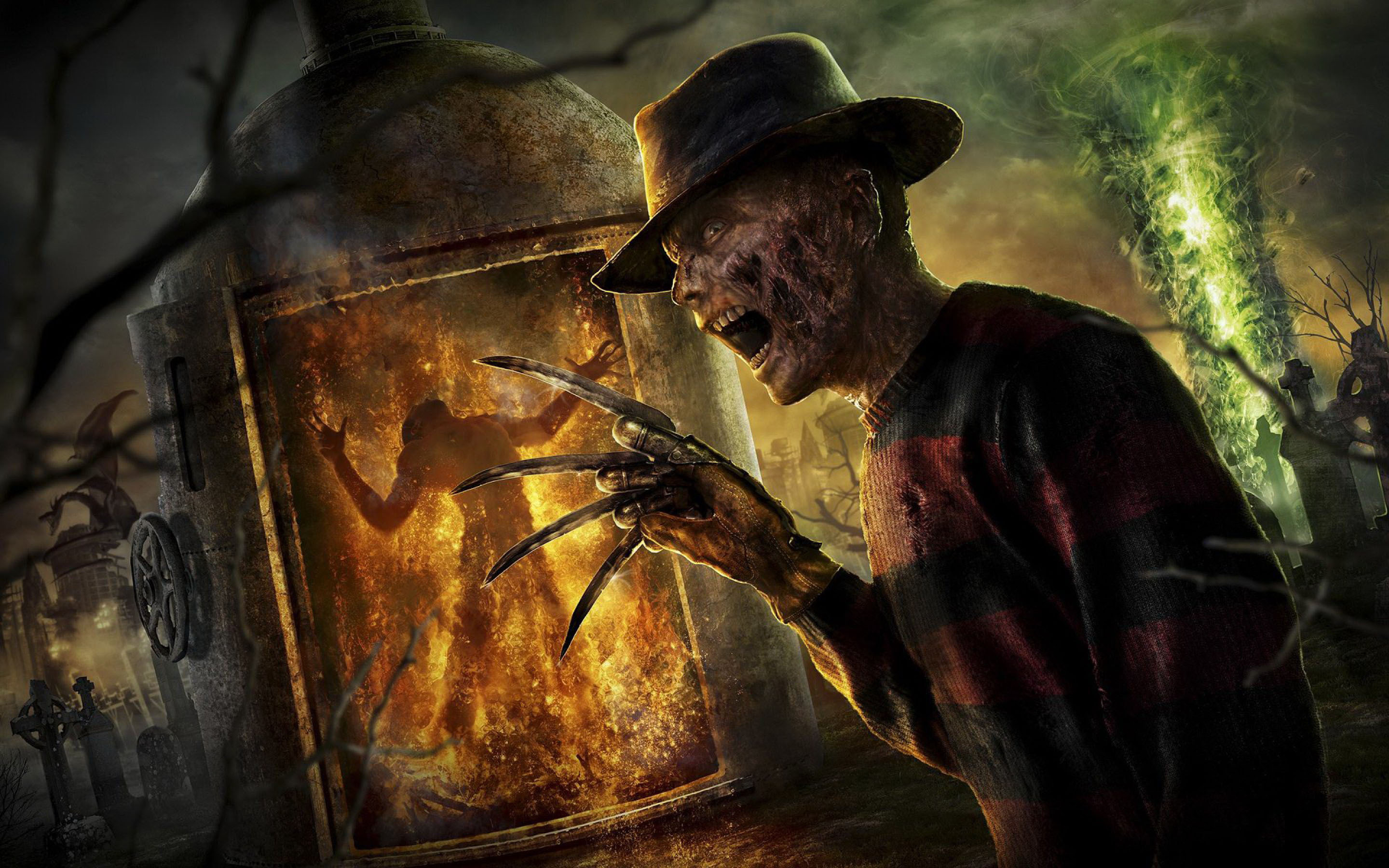 The infamous Freddy Krueger from A Nightmare on Elm Street
