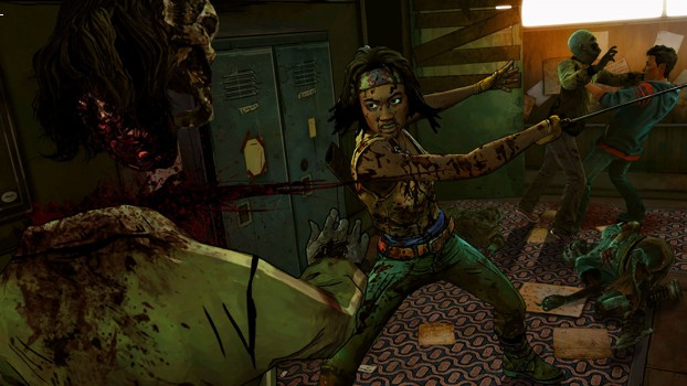 Michonne hunting Zombies
