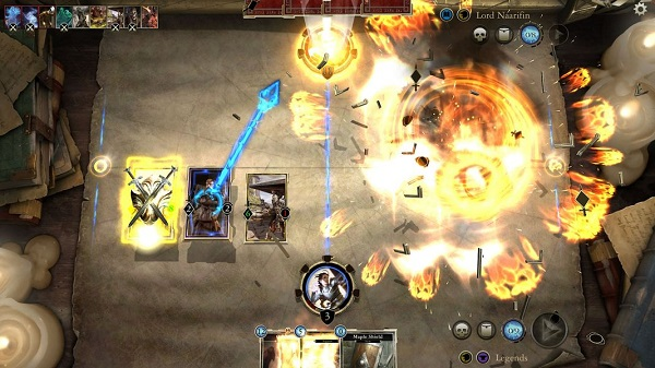 Players employ creatures, characters, item cards, and various spells to crush opponents. There's also a decent serving of obligatory explosions and other flashy animations.