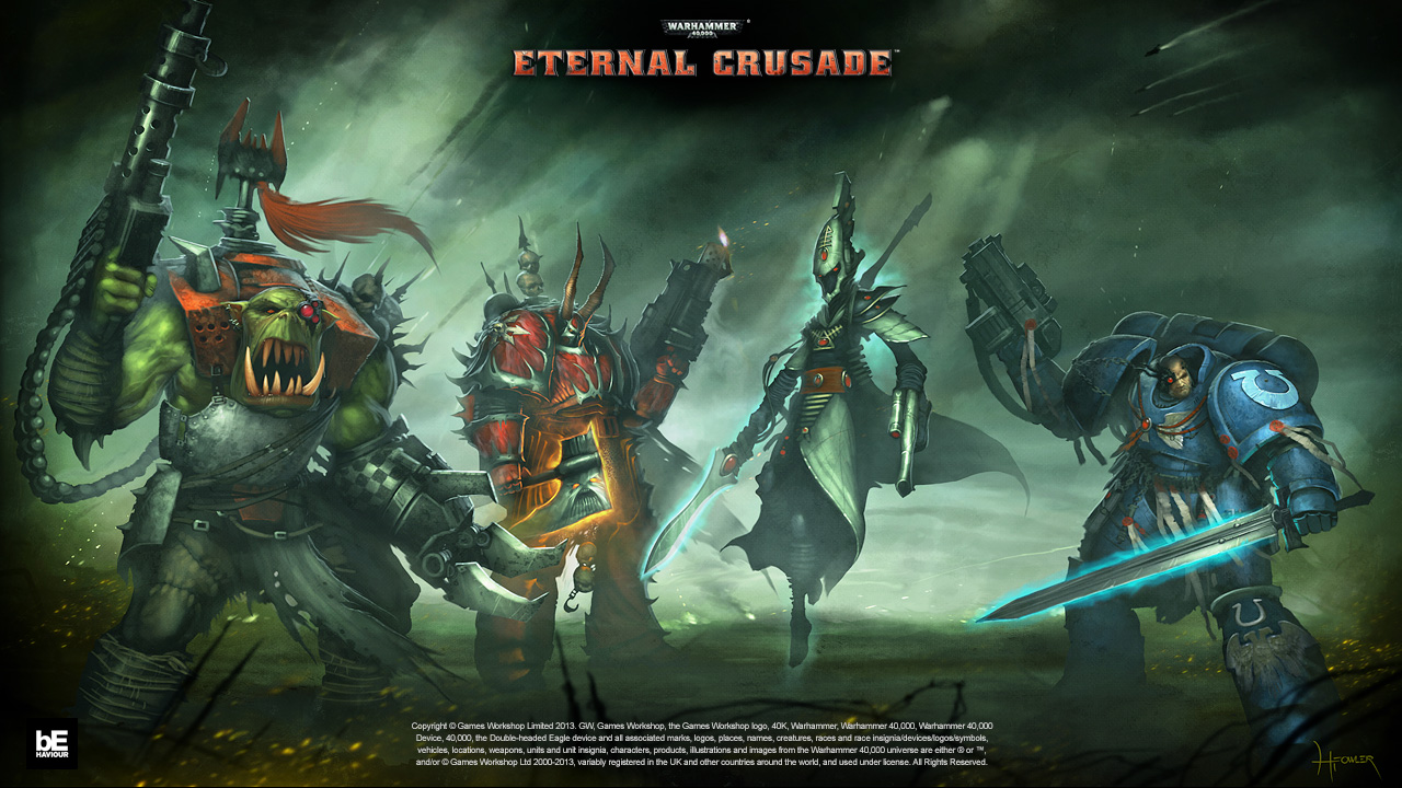 The factions available for Warhammer 40,000: Eternal Crusade.