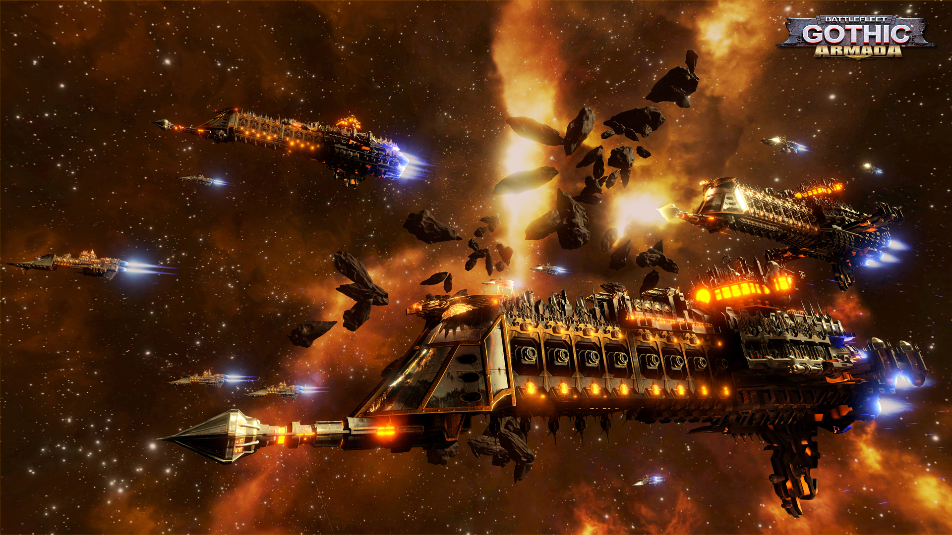 Battlefleet Gothic: Armada, one of the more successful Warhammer related titles.
