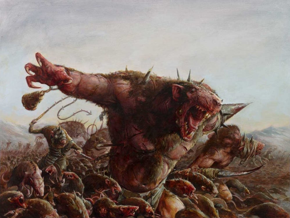 Rat Ogres, a foul creation of the Skaven.