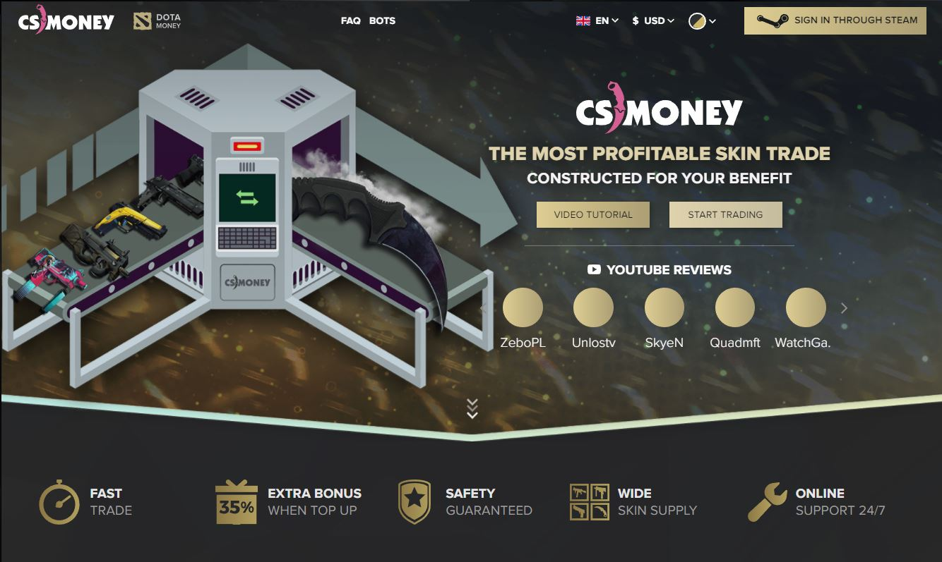 CS Money Home Page