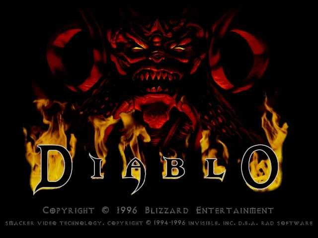 Diablo title screen