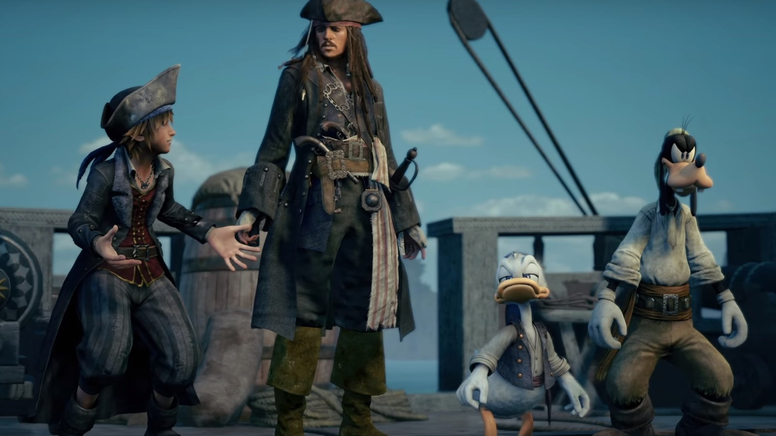 Sora and Jack sparrow