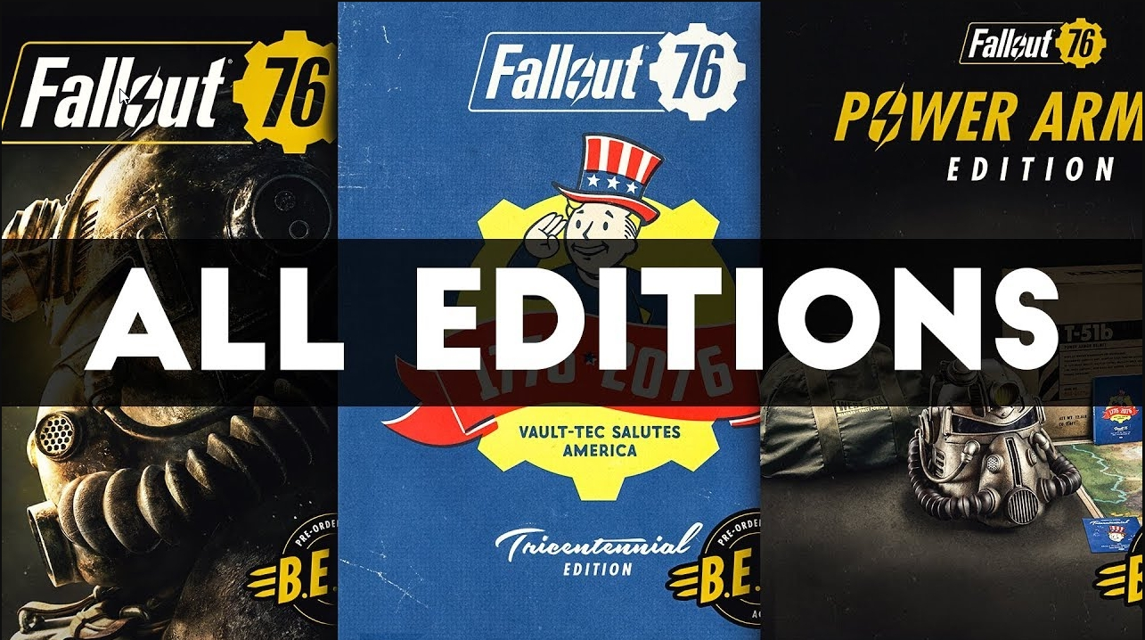 All Fallout 76 Editions
