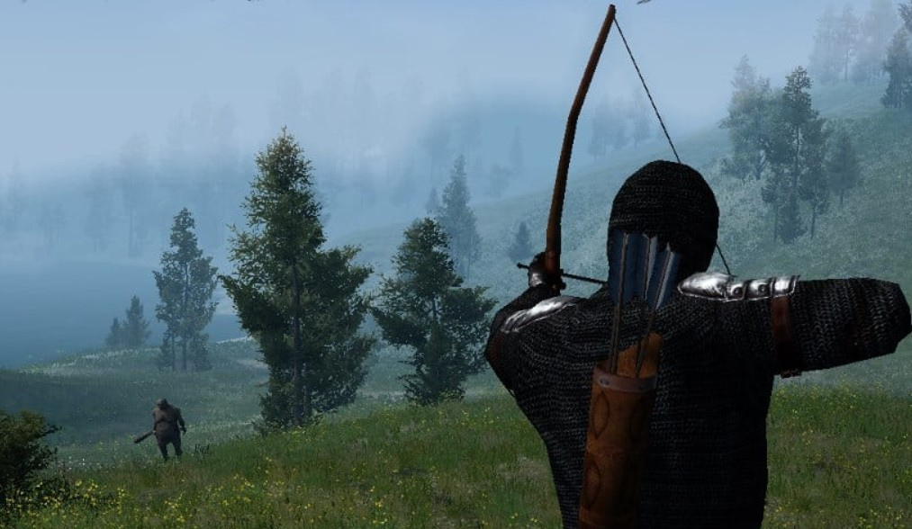 An archer aims at an ogre in Gloria Victis