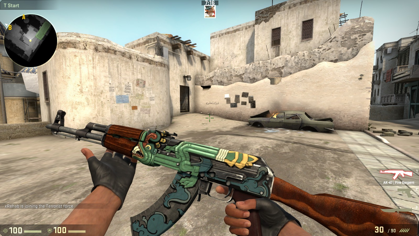 Fire Serpent AK47 CSGO Skin