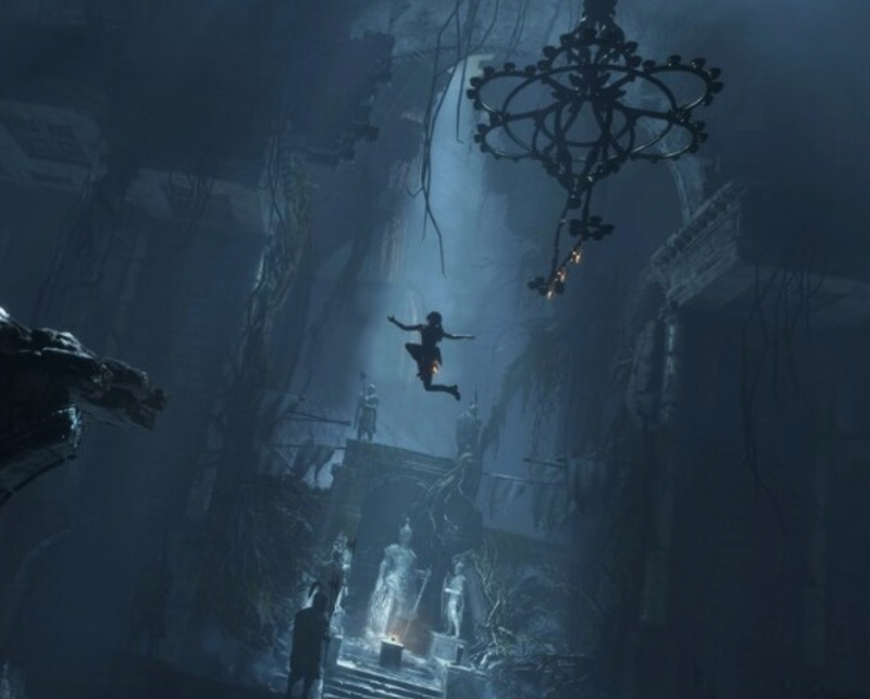 Leap of faith: One of Lara's abilities is to attack from above. They'll never see her coming.