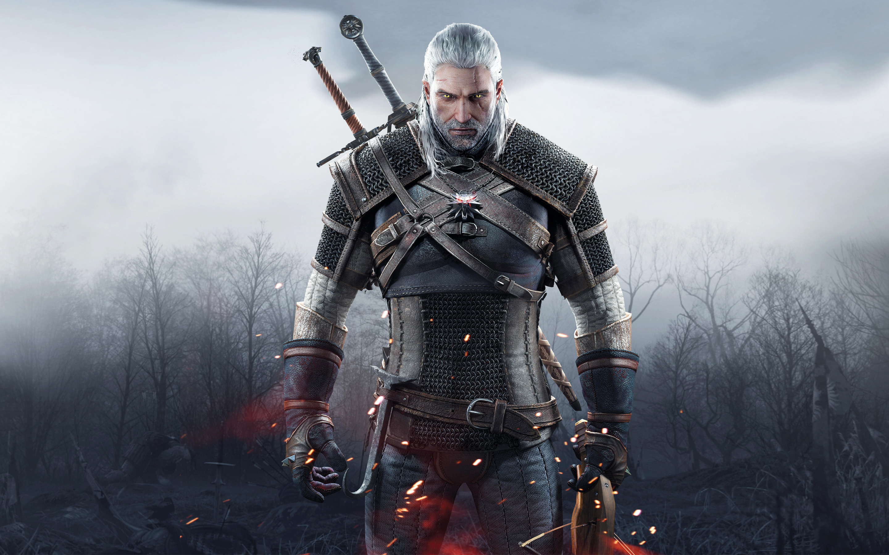 Geralt looking like a bad ass