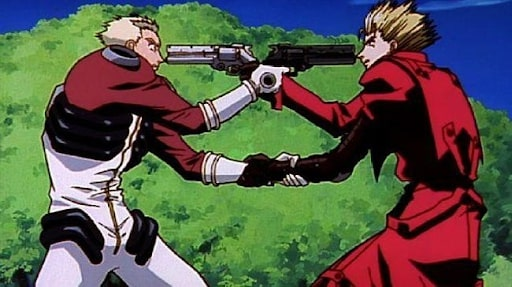 Vash and Knives face to face